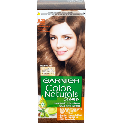 Garnier Color Naturals Creme 6.23 Csokoládés Karamellbarna tápláló tartós hajfesték