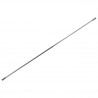 ACT/ TELESCOPIC SHOWER ROD, METAL, SS, 110 TO 190CM, CL: SILVER