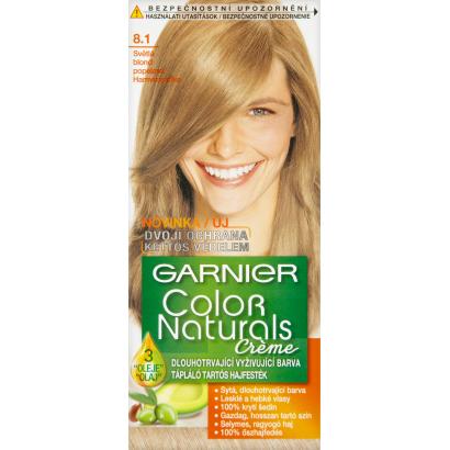 Garnier Color Naturals Creme 8.1 Világos Platinaszőke tápláló tartós hajfesték