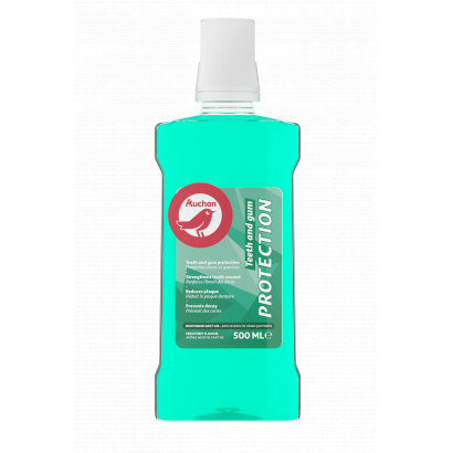 AUCHAN MOUTHWASH TEETH AND GUM PROTECTION 500ML