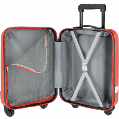 AIRPORT BASIC RIGID ABS 4 WHEELS CABIN RED2