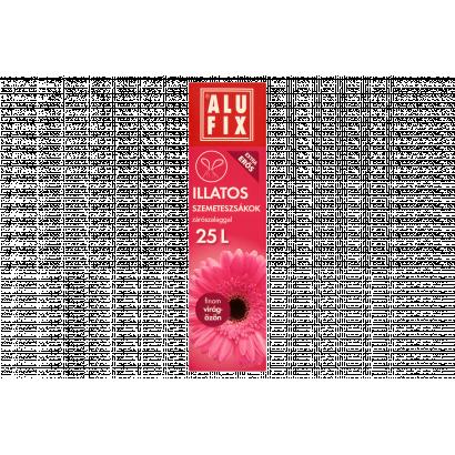 Alufix 25 literes finom virágözön illatú szemeteszsákok zárószalaggal 15 db