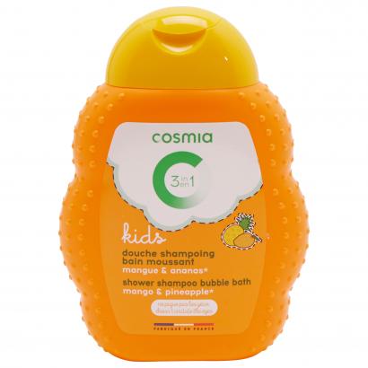Cosmia kids tusfürdő sampon habfürdő 3 az 1Nívóben mangó&ananász 250 ml