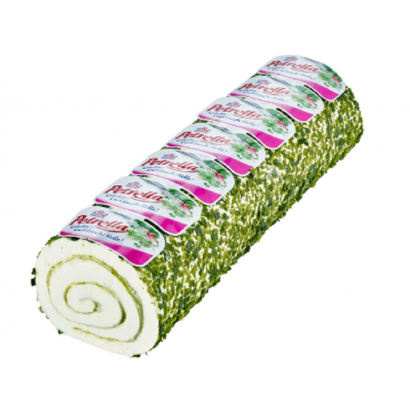 Fresh cream cheese roll with garlic and chives 700g