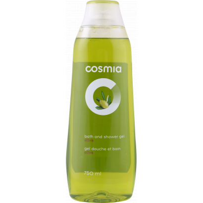 Cosmia olive 2 in 1 shower gel and shampoo 750 ml