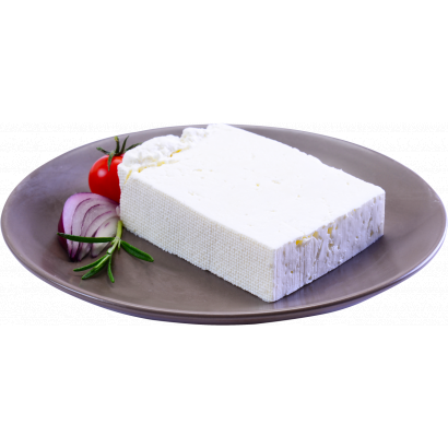 White brined cheese from cow milk