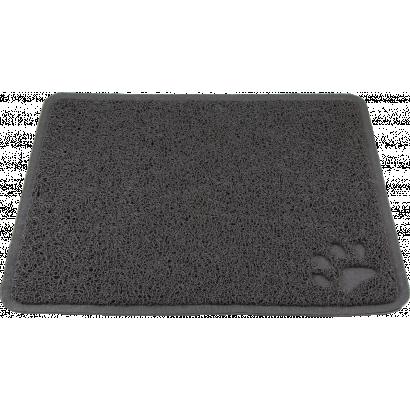 PVC carpet in front of Cat litter pan