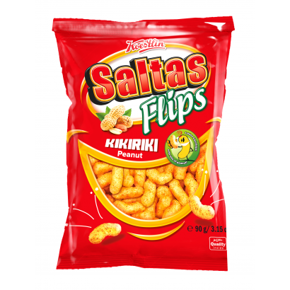 SALTAS FLIPS extruded corn snack with peanut 90g