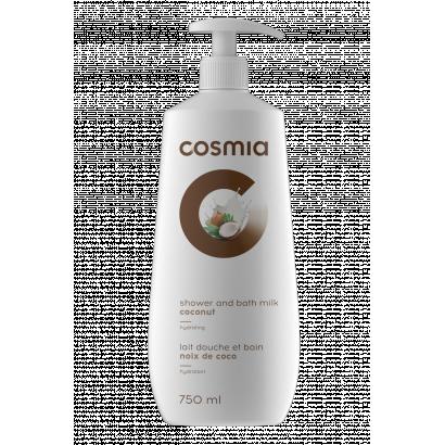 COSMIA BATH AND SHOWER GEL MILK COCONUT 750 ML