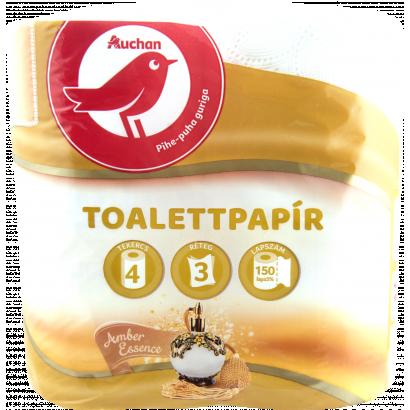 Auchan amber toalettpapír  3 rétegű 4 tekercses