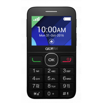 Alcatel OneTouch 2008 fekete mobiltelefon + Telekom Domino Quick SIM kártya