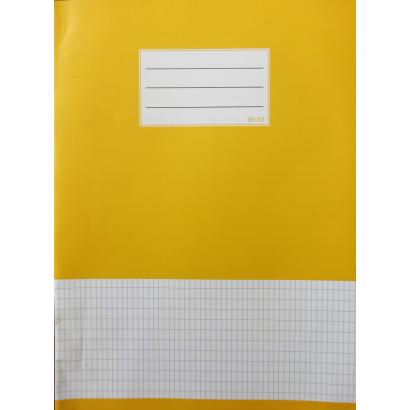 Auchan Optimum A4 tűzött füzet, francia kockás, 32 lap