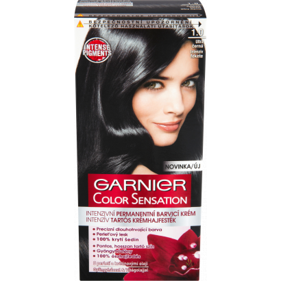 Garnier Color Sensation 1.0 intenzív fekete intenzív tartós krémhajfesték