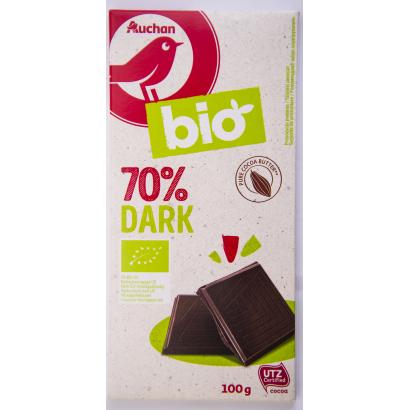 Auchan Nívó BIÓ étcsokoládé 70% 100 g