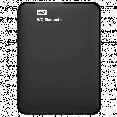 Western Digital Elements 2 TB külső merevlemez, fekete