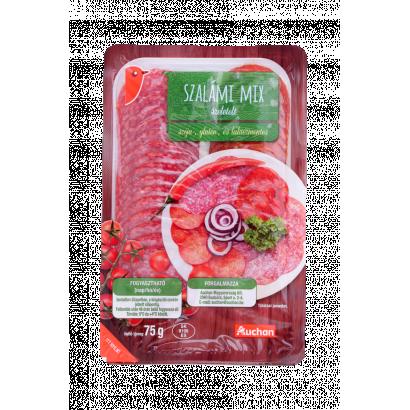 Auchan szalámi mix 75 g