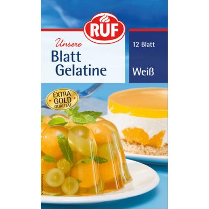 RUF lapzselatin fehér 20 g