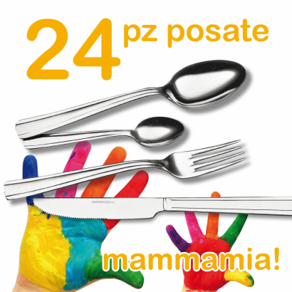 Cutlery Set MAMMAMIA 24 pcs