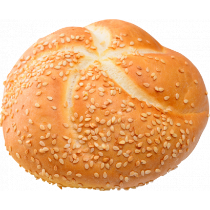 Kaiser roll with sesame seed
