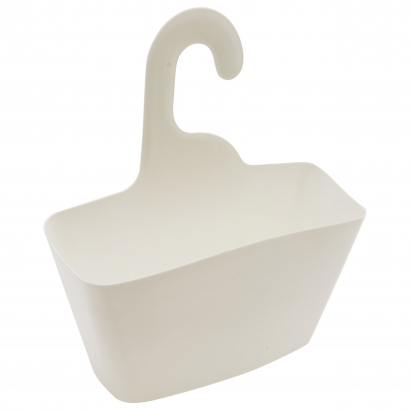 ACT/ HANGING BASKET WITH HOOK, PP, 23X8,5X25CM, CL: WHITE