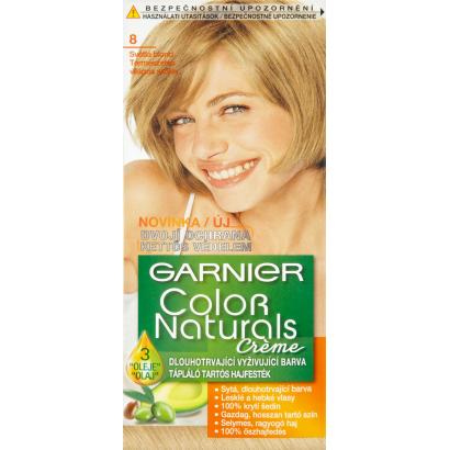 Garnier Color Naturals Creme 8 Világos Szőke tápláló tartós hajfesték