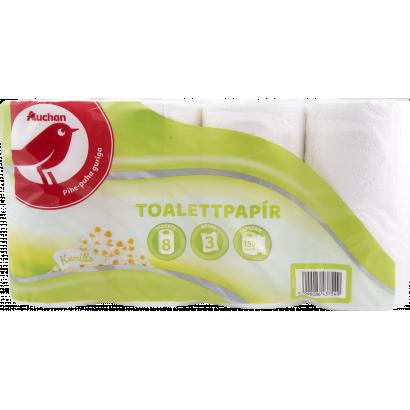 Auchan kamilla toalettpapír  3 rétegű 8 tekercses