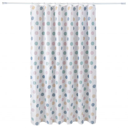 ACT/ SHOWER CURTAIN, PRINTED, POLYESTER 75GSM, 180X200CM, LILAC SPRING DESIGN