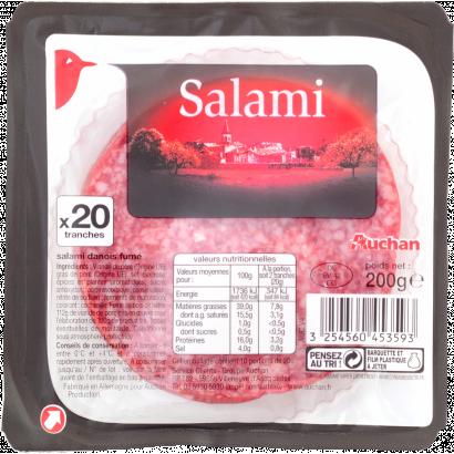 Auchan sertés szalámi 200g