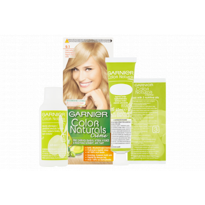 Garnier Color Naturals Creme 9.1 nagyon világos szőke tápláló tartós hajfesték