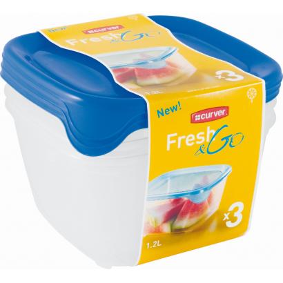 FRESH&GO SET SQR 3x1.2L