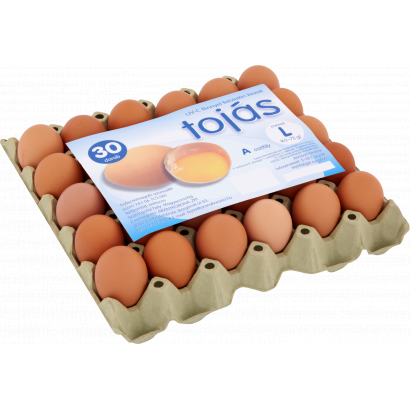 UV-C Light Surface Treated Eggs L 30 pcs