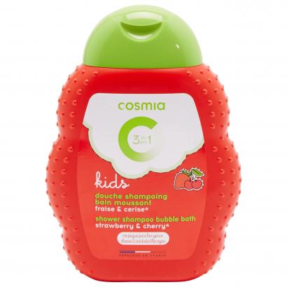 Cosmia kids tusfürdő sampon habfürdő 3 az 1Nívóben cseresznye&eper 250 ml
