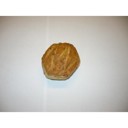 Pre-leavened,pre-frozened crackling hexagon