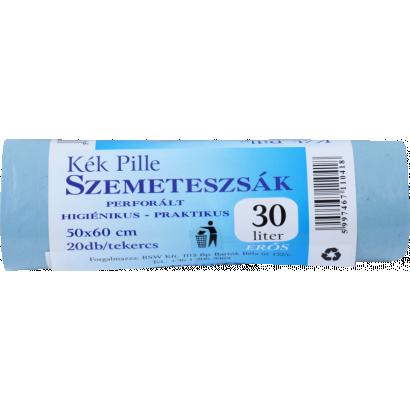 Kék Pille szemeteszsák 50×60 30 l, 20 db
