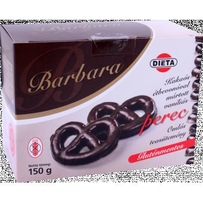 Barbara vanilla pretzel dipped in cocoa mass gluten-free crumble tea-biscuit