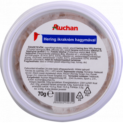 Auchan Cream of herring caviar with onion 70 g