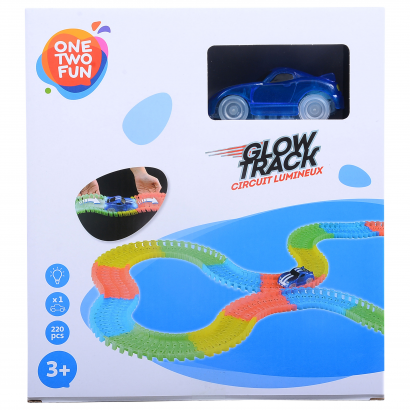 Glow track set with light 220pcs