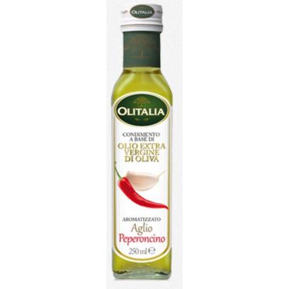 Olitalia fokhagyma és chili ízesítésű extra szűz olívaolaj 250 ml