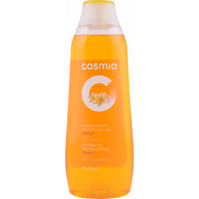 Cosmia monoi 2 in 1 shower gel and shampoo 750 ml