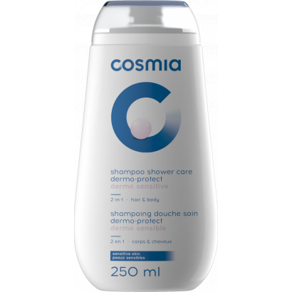 COSMIA SHOWER CREAM  DERMOPROTECTIVE SOAP-FREE 2 IN 1 BODY AND HAIR 250ML