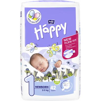 Bella Baby Happy eldobható pelenka, new born 42 db