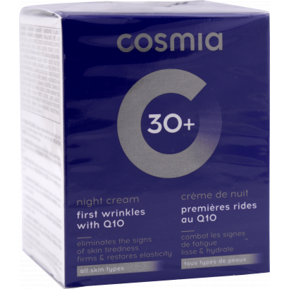 COSMIA FIRMING CREAM  -  NIGHT  /  FIRST WRINKLES  /  all skin types / AGE 30 + /  50ML