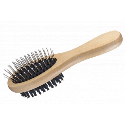 Wooden brush, 2-sided 5×17cm