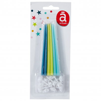 ACT/THIN CANDLES X12, BLUE