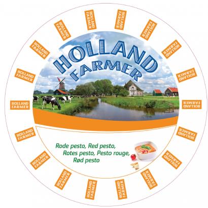 Holland farmer piros pesztós zsíros félkemény sajt
