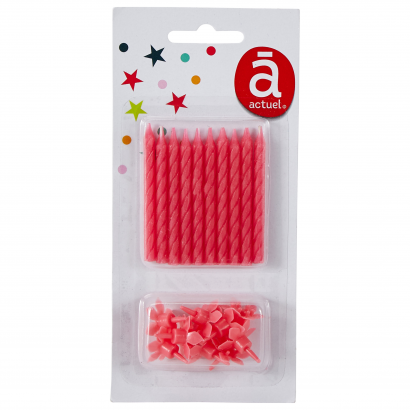 Actuel szülinapi szálgyertya 10 db rózsaszín