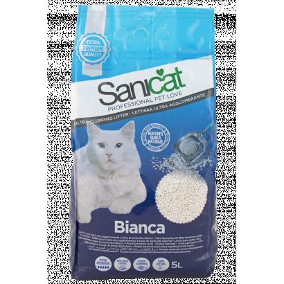 Sanicat bianca 5l white cat litter