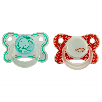 Auchan Baby pacifier, silicone, age of 6-12 months, 2 pieces