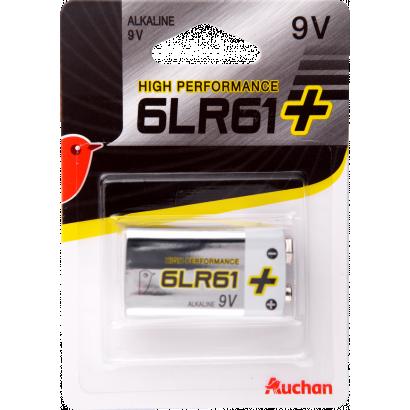 Auchan Premium alkaline battery 9 V 6LR61, 1 p