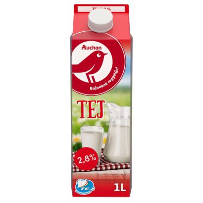 Auchan Nívó Pasztőrözött dobozos tej 2,8% 1 l